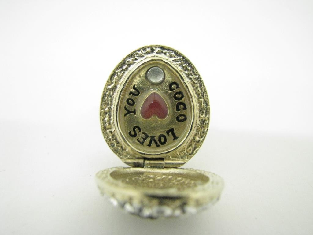 """Channel """"Coco Loves You"""" Locket Ring - 3"""