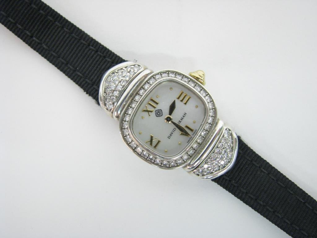 David Yurman Sterling, 14K Diamond Capri Watch