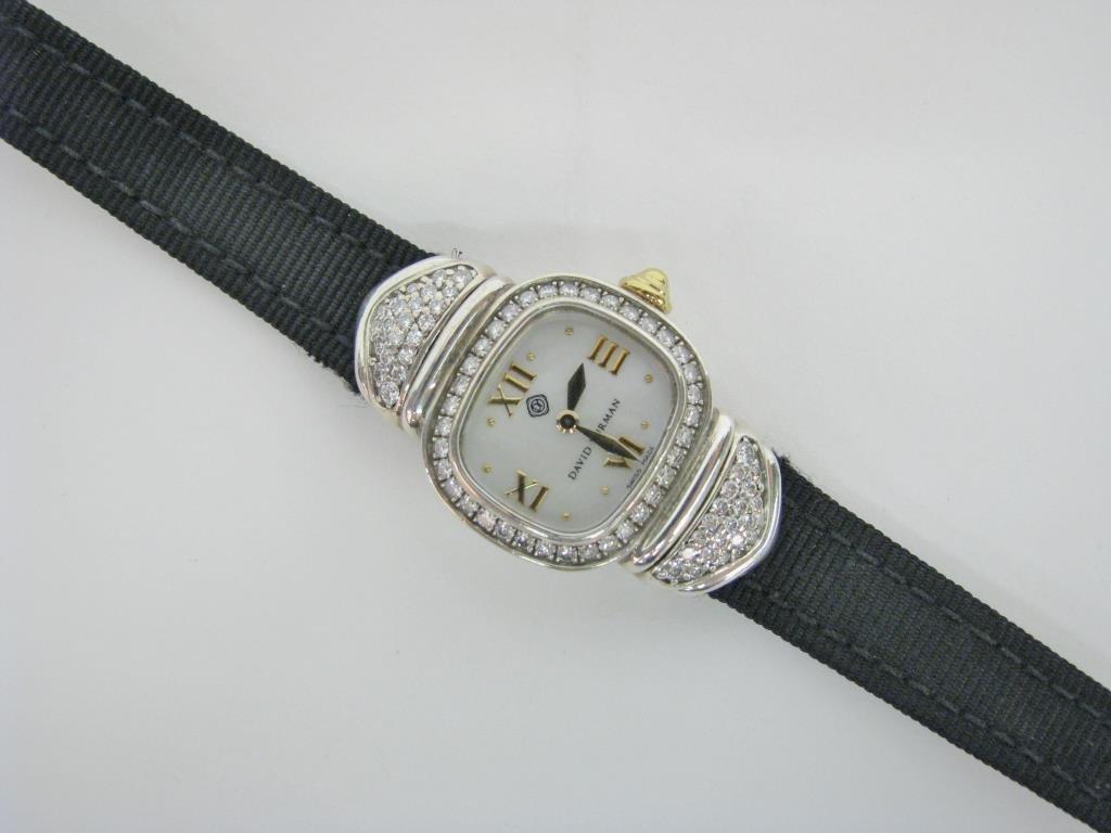 David Yurman Sterling, 14K Diamond Capri Watch - 2