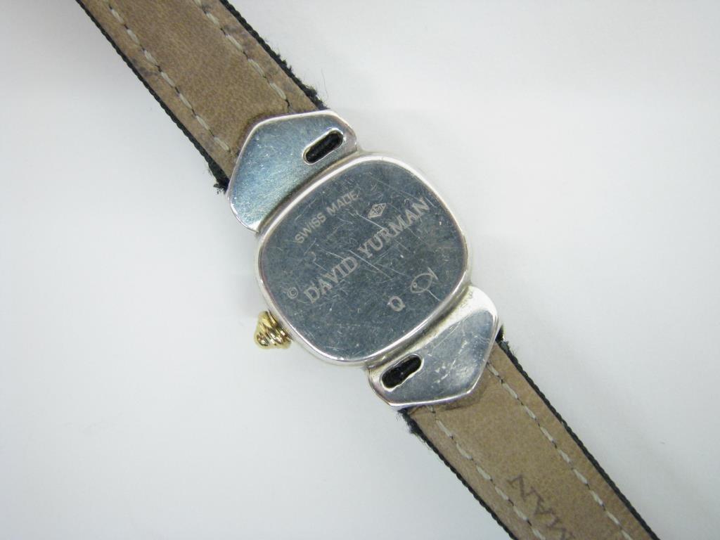 David Yurman Sterling, 14K Diamond Capri Watch - 3
