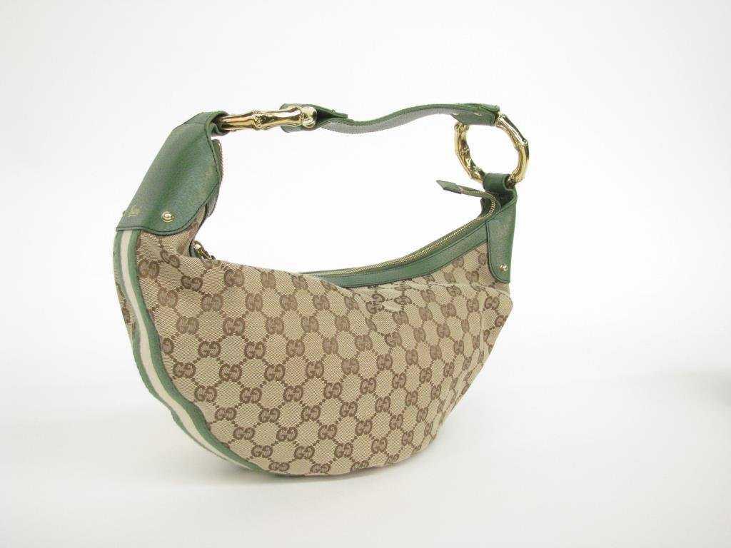 27139fe2c96682 Gucci Jacquard Monogram Crescent Shape Bag