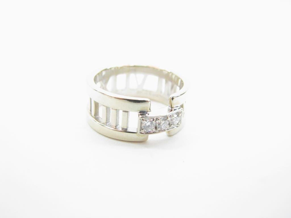 "Tiffany & Co 18K ""Atlas"" Collection Diamond Ring"