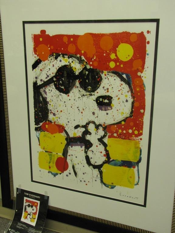 Tom Everhart Limited Edition Print, Snoopy