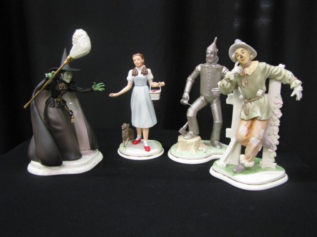 Group of Four Lenox Wizard of Oz Figurines