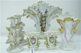 Group of Old Paris Style Porcelain