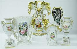 Group of Decorated Porcelain Old Paris