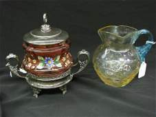 Two Items VictorianEra Glass