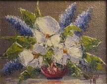 Dwight F Steininger 8x10 O/B Floral Still Life