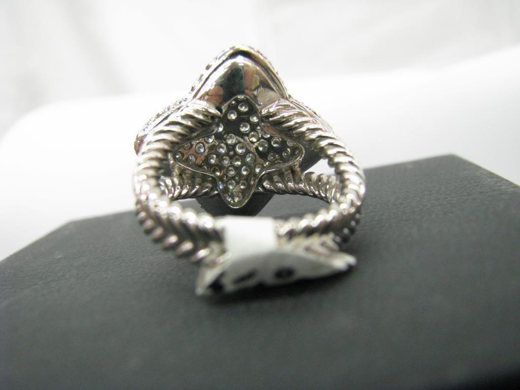 David Yurman 18K Quatrefoil Pave Diamond Ring - 3