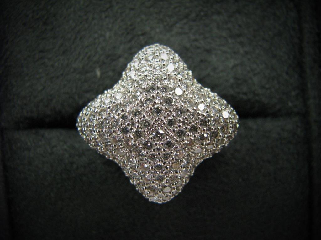 David Yurman 18K Quatrefoil Pave Diamond Ring - 4