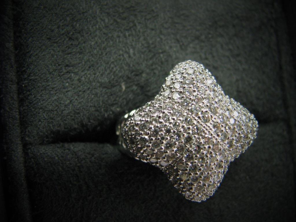 David Yurman 18K Quatrefoil Pave Diamond Ring - 5