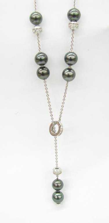 49b38de89913 Mikimoto 18K Pearls in Motion Necklace