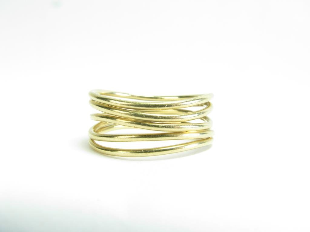 Tiffany & Co. 18K Yellow Gold Multi Band Ring