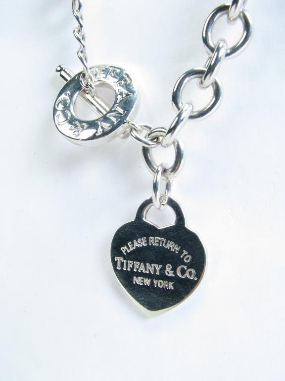 Tiffany & Co Sterling Heart Tag Toggle Necklace - 2
