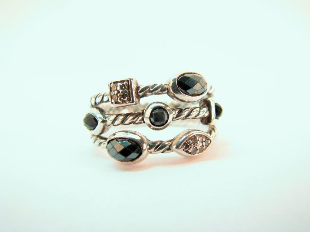 David Yurman Sterling, Diamond Confetti Ring