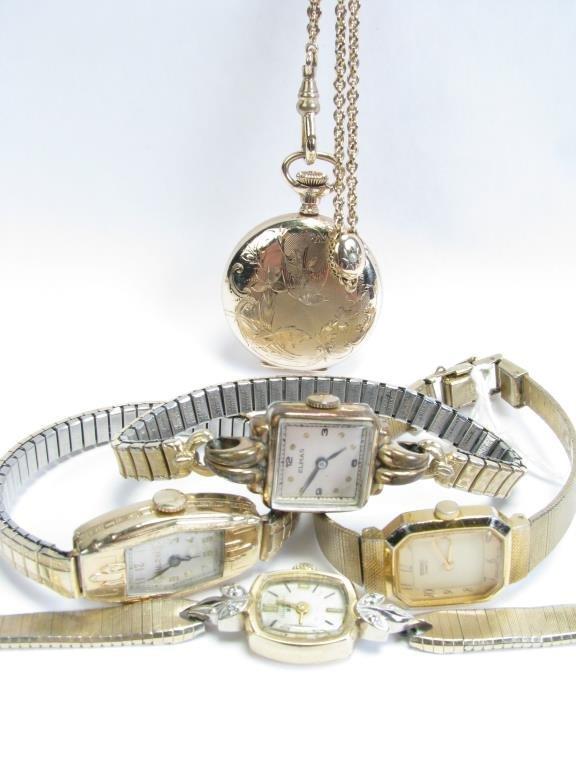 Vintage Watches, Hampden Dueber; Bulova, Elmas...