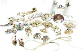 Group of Vintage and Gold Estate Jewelry