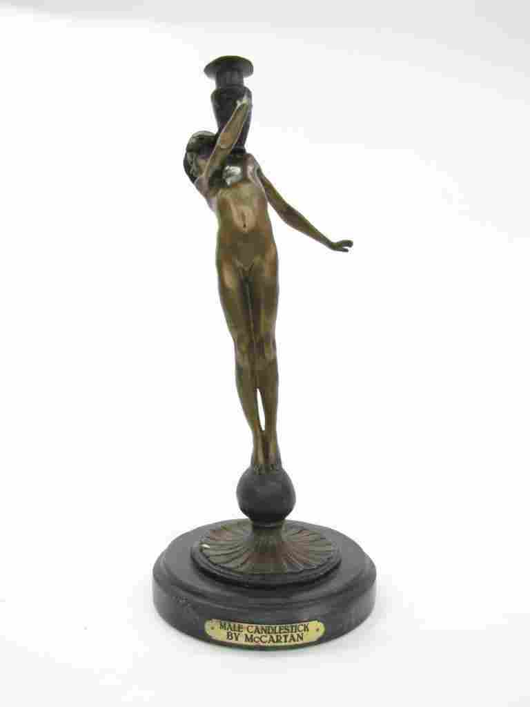 "Bronze Sculpture ""Male Candlestick"" - McCartan"