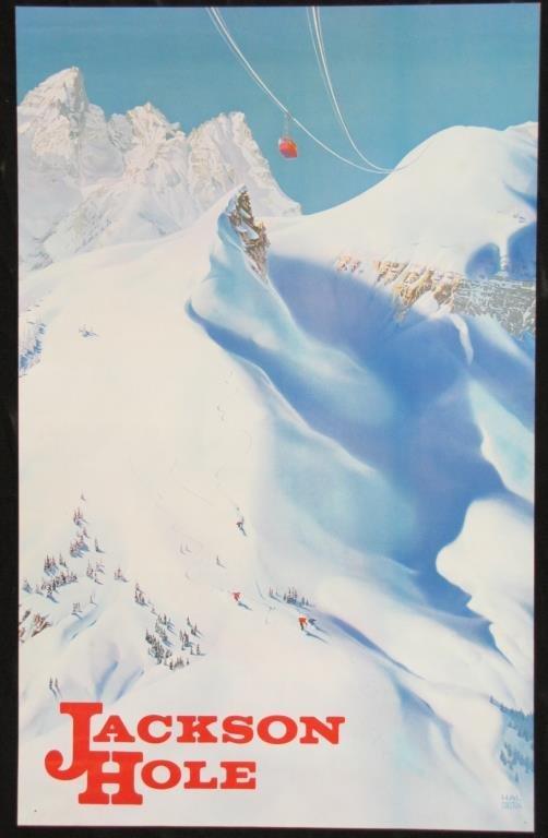 Vintage Travel Poster, Jackson Hole, WY