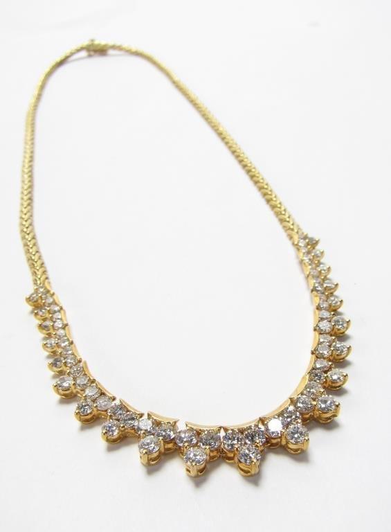 La Triomphe 18K Yellow Gold 5CT+ Diamond Necklace