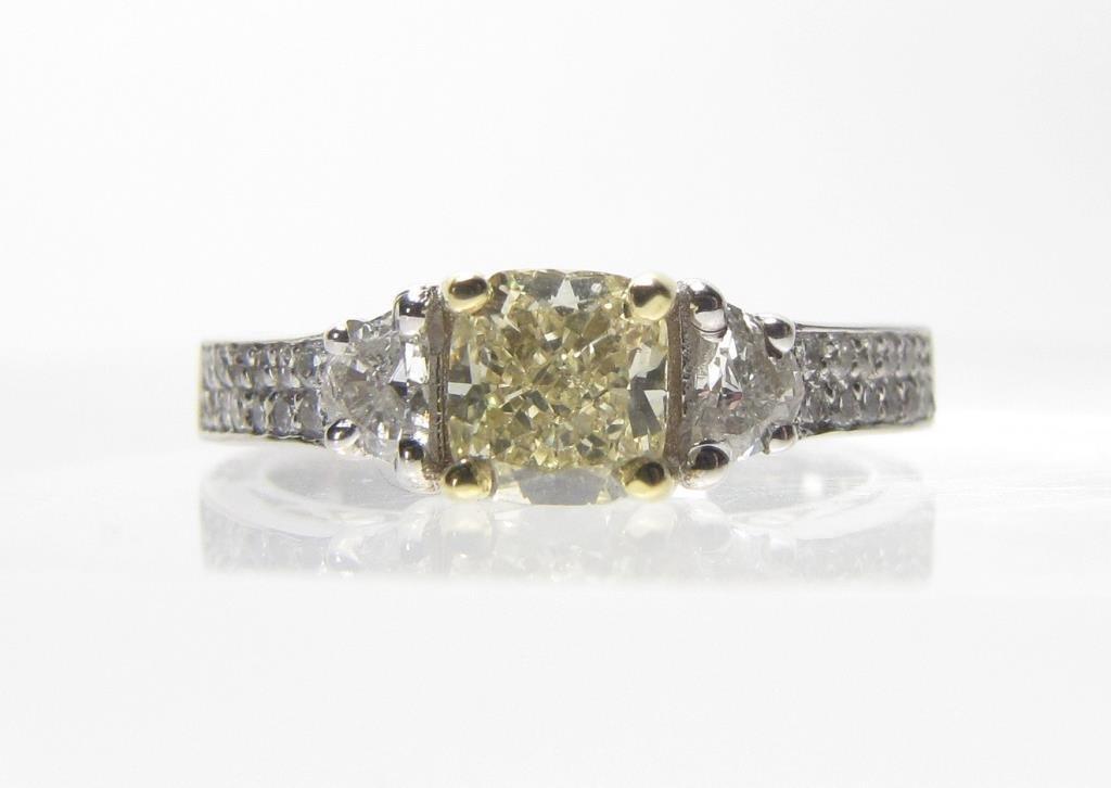 18K Yellow and White Diamond Ring