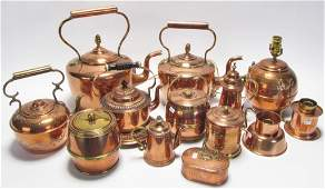 Group of Copper Kitchen Items