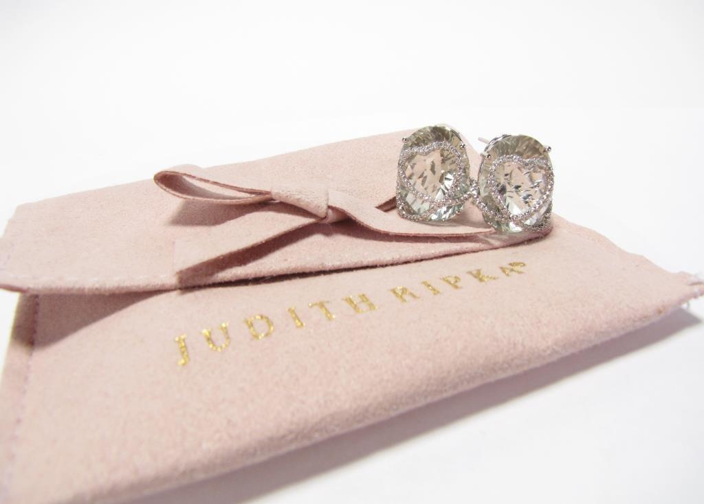 Judith Ripka, 14K Quartz, Diamond Earrings