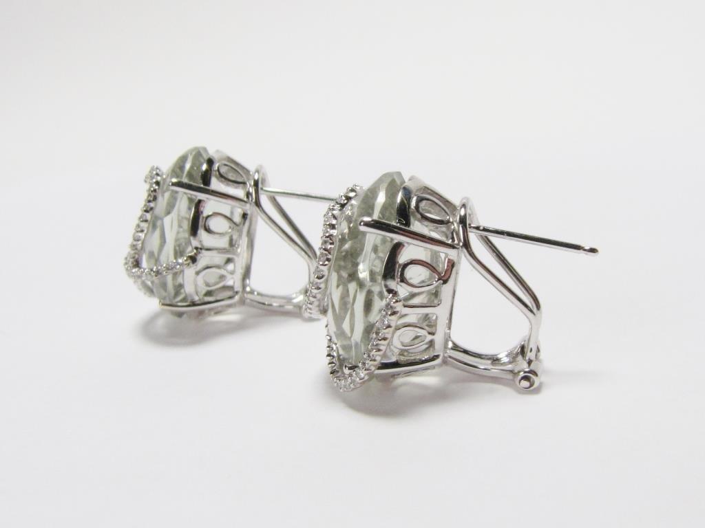 Judith Ripka, 14K Quartz, Diamond Earrings - 4