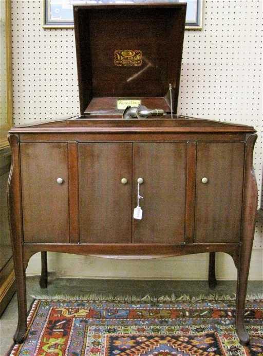 - Antique Wurlitzer Victrola Cabinet Phonograph