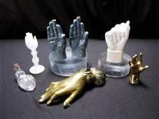 Group of Hand Figures Sculpture