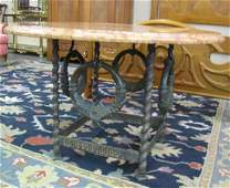 French Marble Top Breakfast Table
