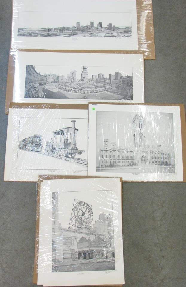Group of Tim Adwell Indianapolis Prints - 2