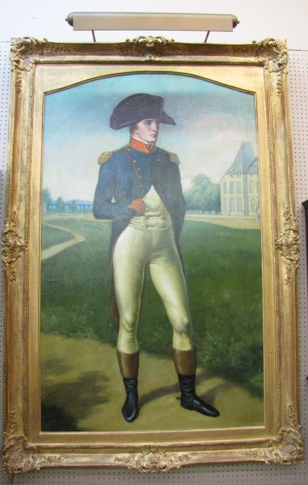 Louis F Grell 70x46 O/C Portrait of Napoleon