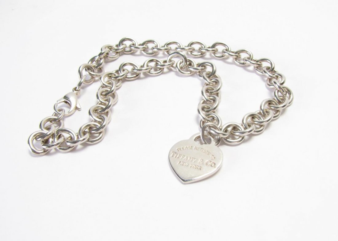 Sterling Tiffany & Co. Heart Tag Necklace