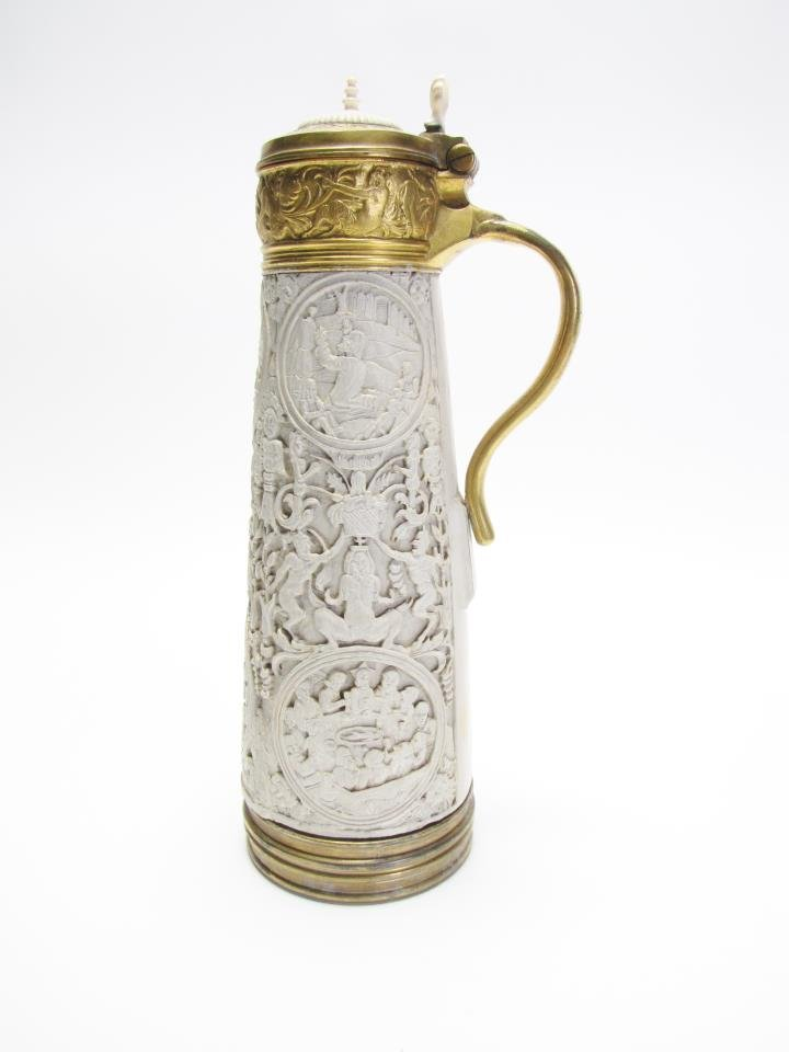 18th Century Ivory Carved Tusk Stein