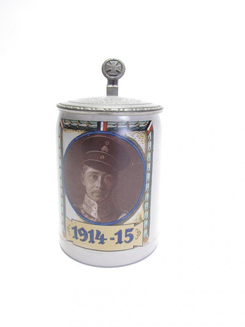 1/2 Liter Stoneware Military Stein