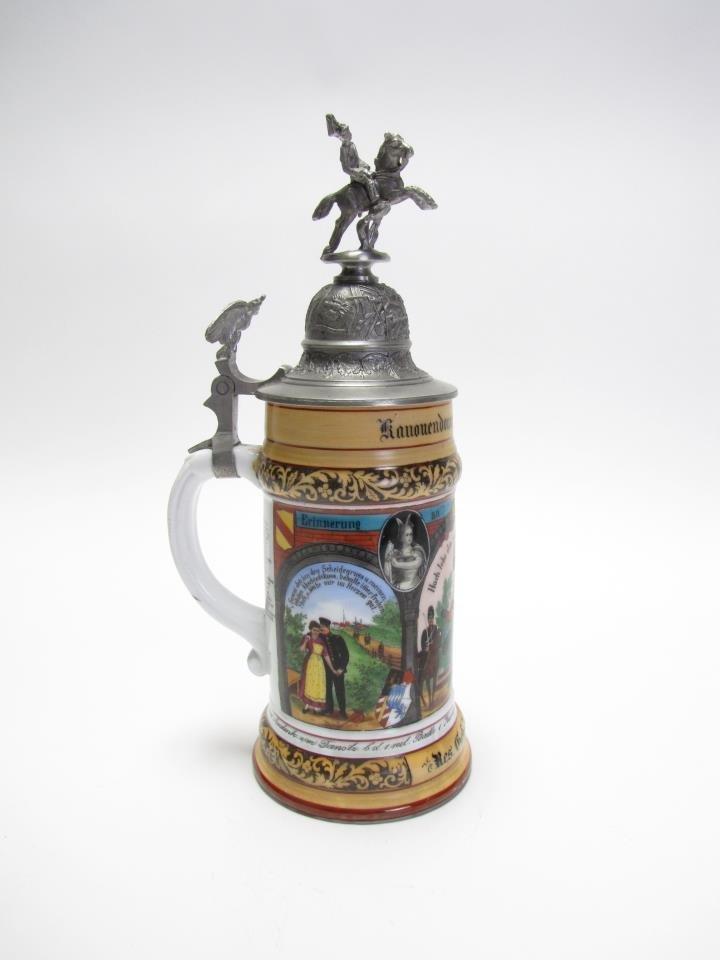 1/2 Liter Regimental German Stein