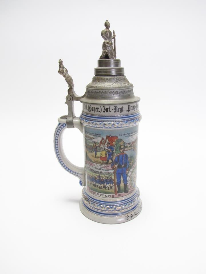 1/2 Liter German Regimental Stein