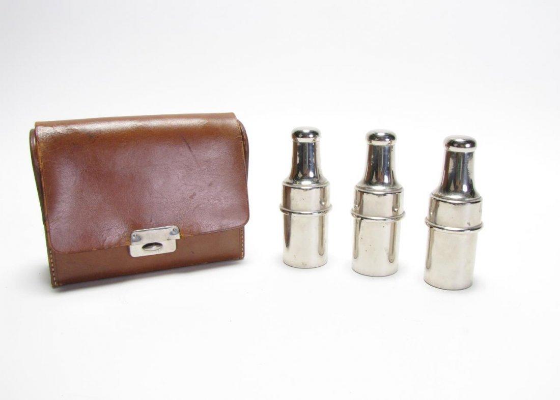 Set of German Glass Perfume Bottles