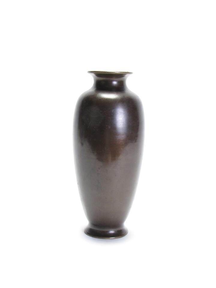 Bronze Vase with Etched Decor