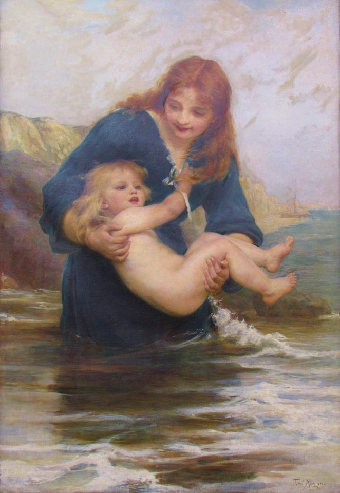 Frederick Morgan 50x35 O/C Mother and Child