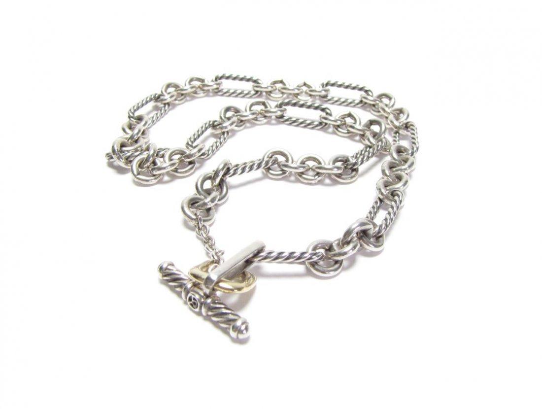 David Yurman Sterling Figaro Choker Necklace