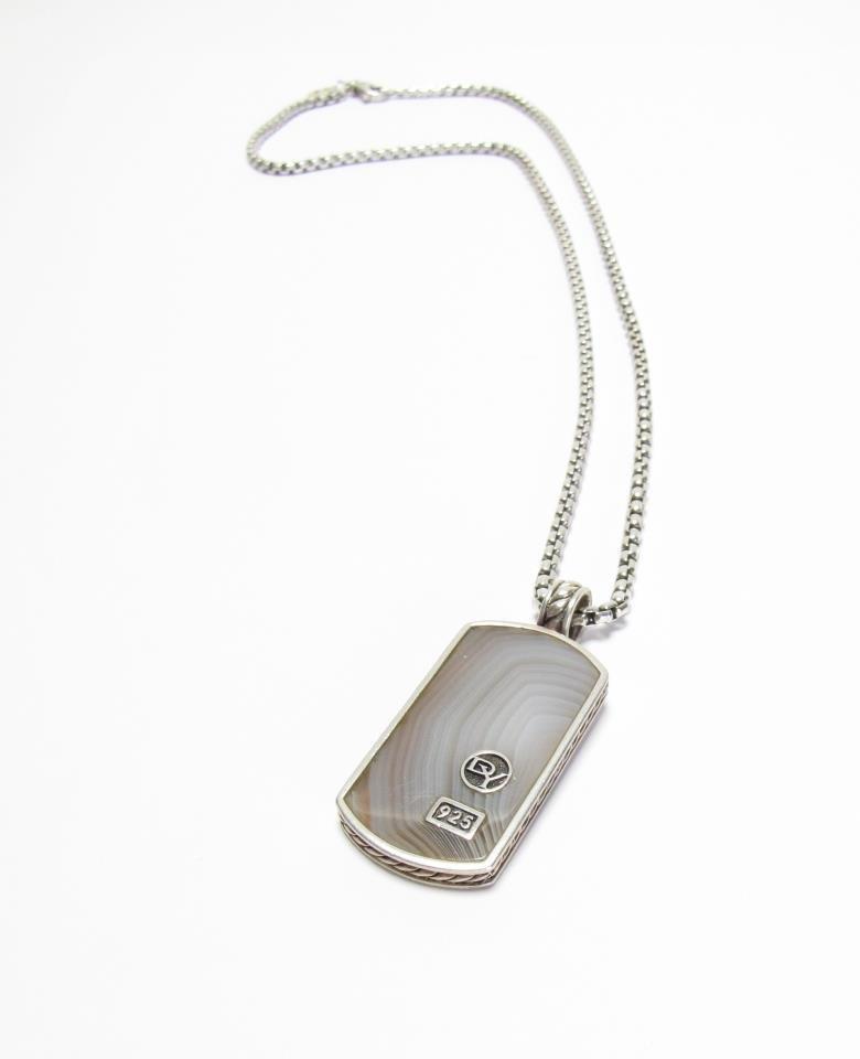 David Yurman Sterling Silver Dog Tag Necklace