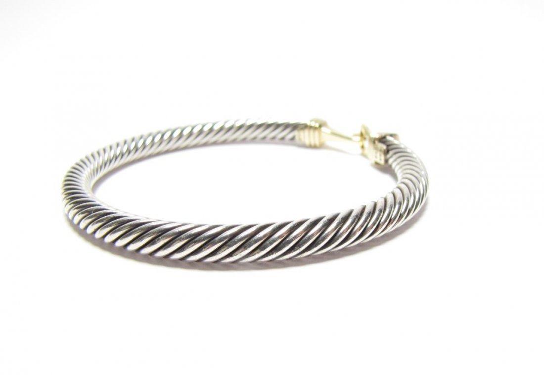14K / Sterling David Yurman Cable Buckle Bracelet