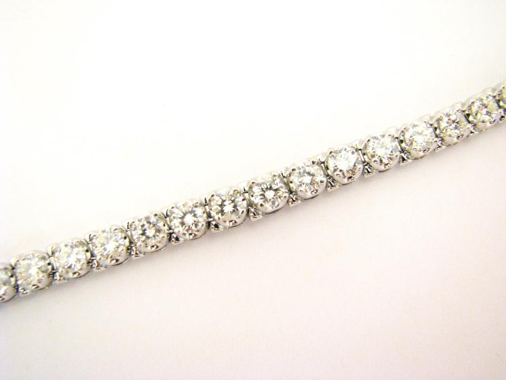 14K White Gold 6.5ct Diamond Bracelet