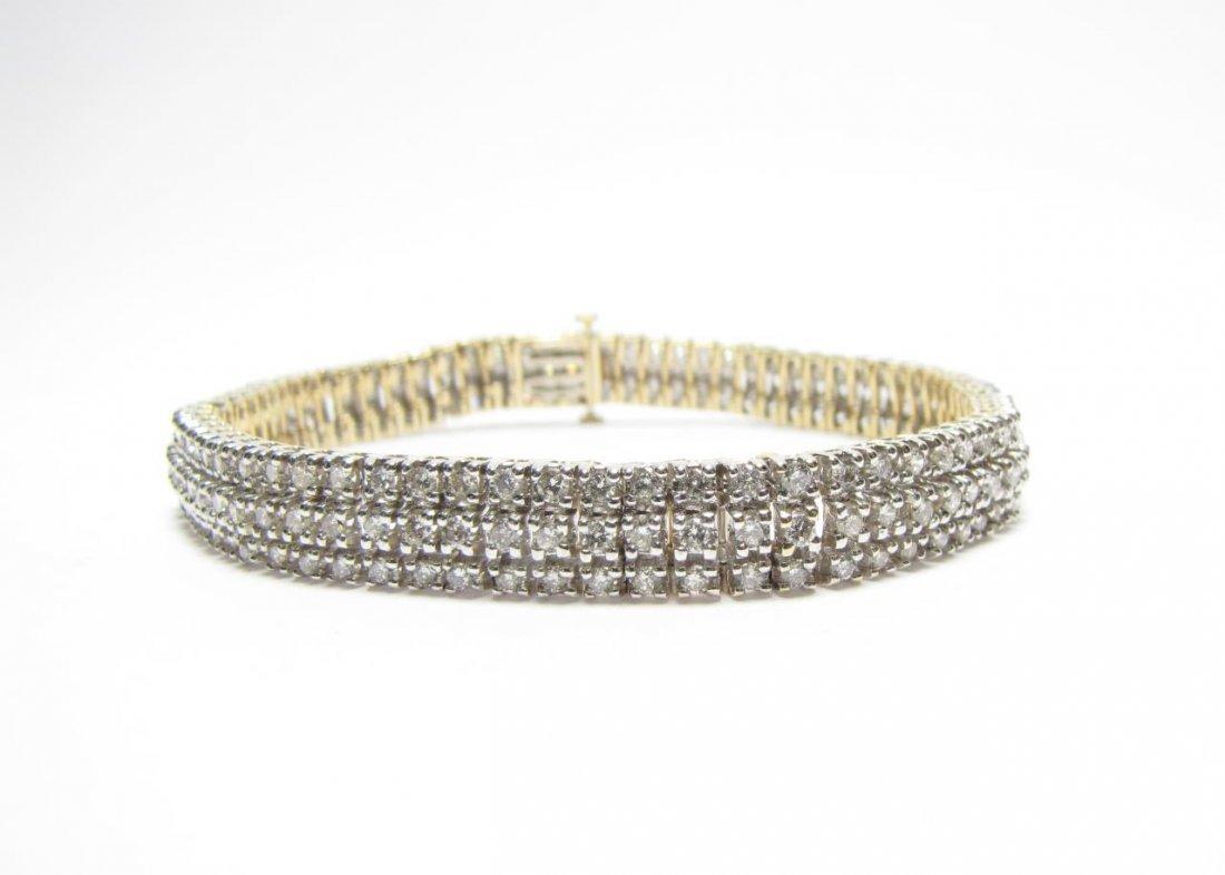 14K Two Tone Diamond Bracelet