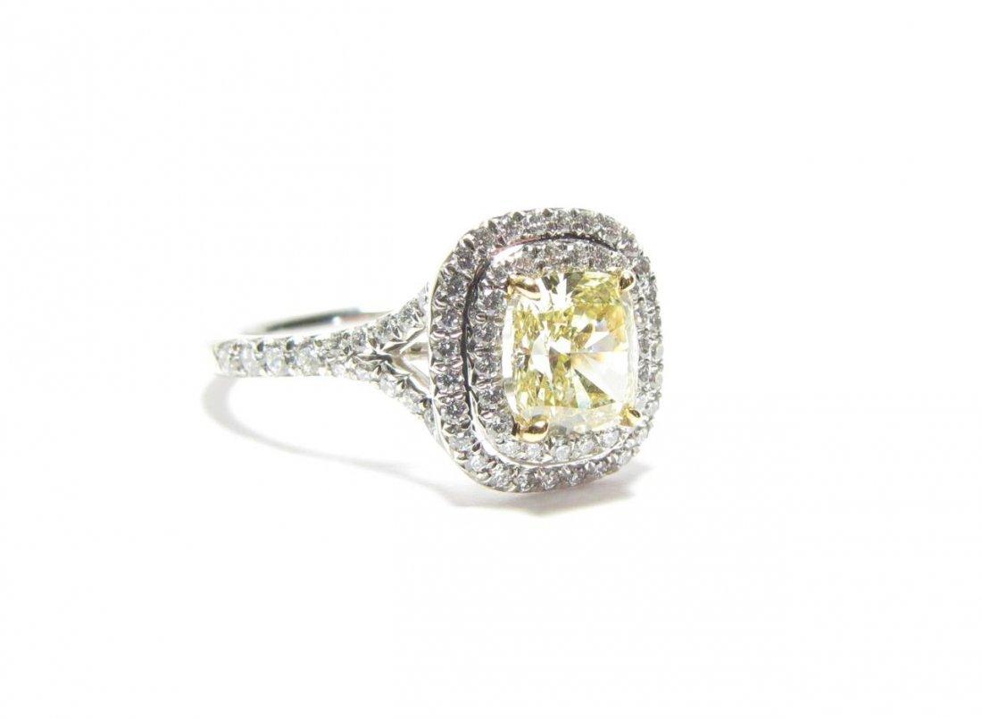 Tiffany & Co. Platinum Yellow Diamond Ring