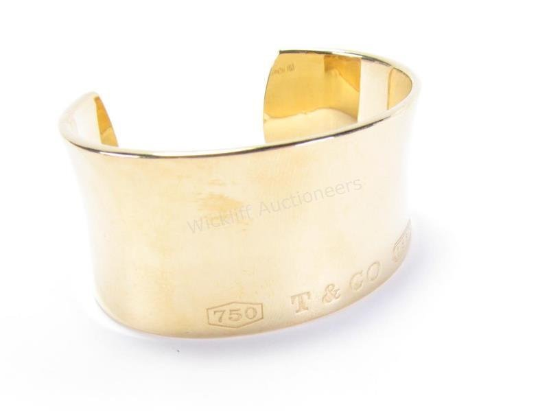 VERY Nice Tiffany & Co. 18K Cuff Bangle Bracelet