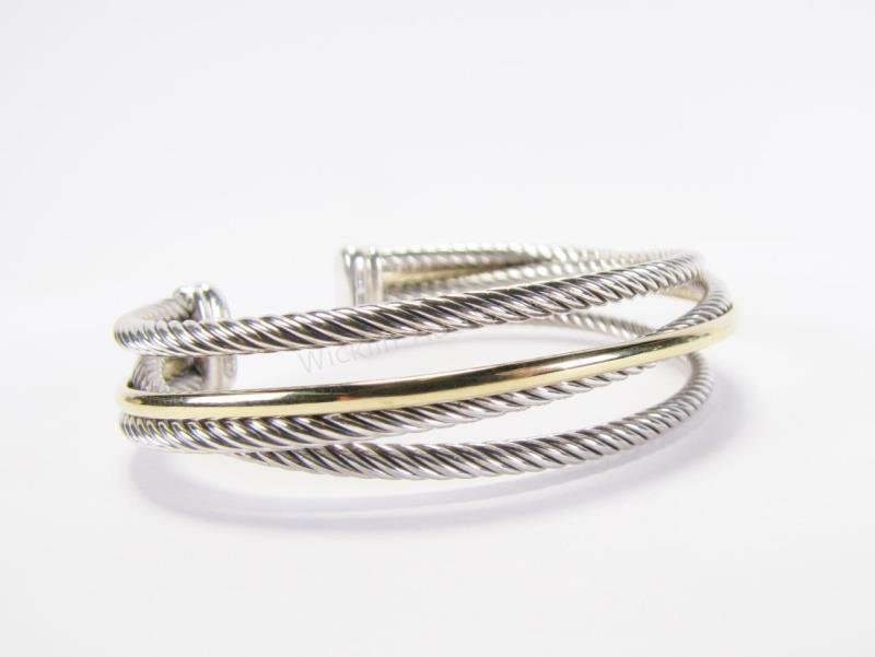 14K and Sterling David Yurman Crossover Bracelet