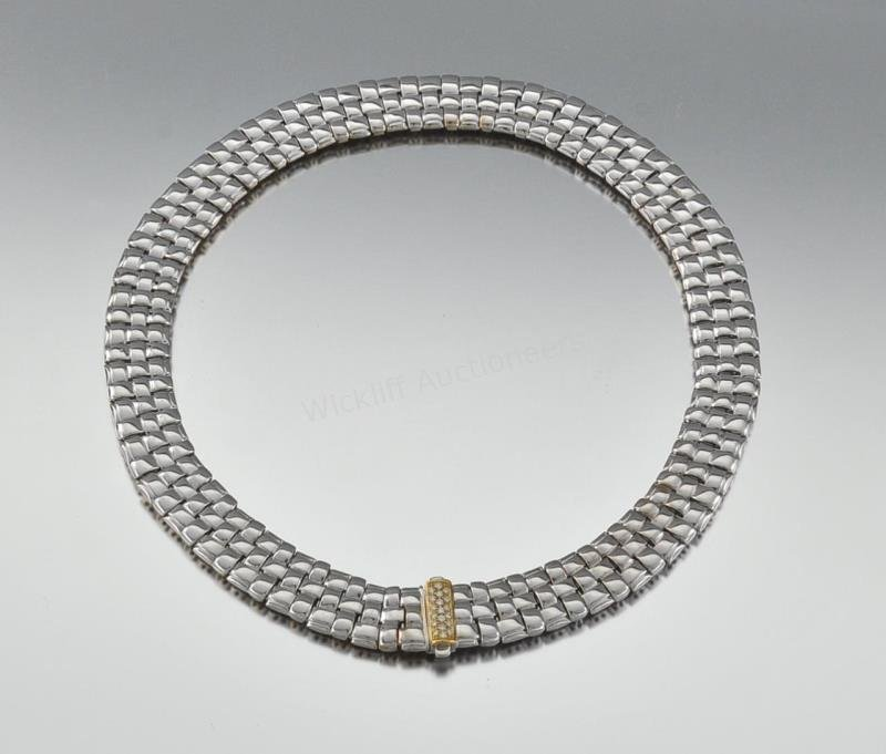 Roberto Coin White Gold Diamond Collar Necklace